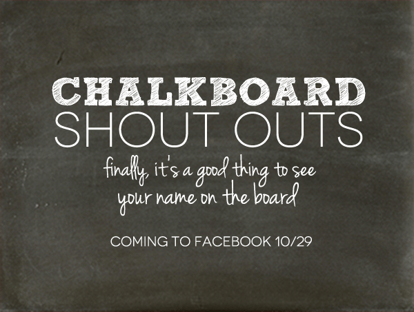 Damask Love Chalkboard Shout Outs