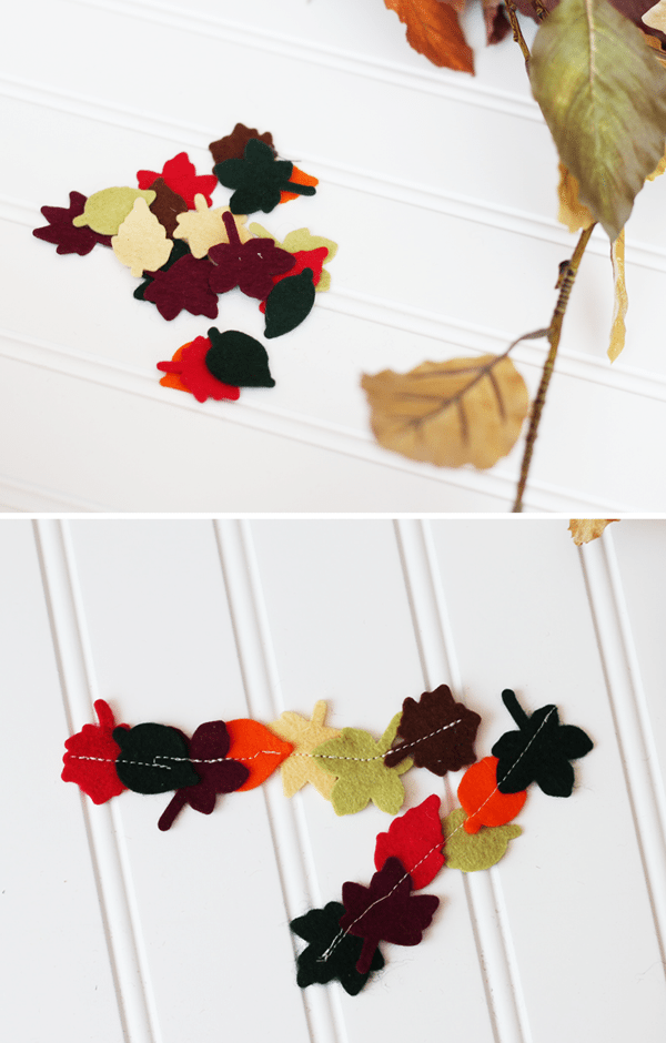 DIY Felt Autumn Leaf Tassels Clear and Simple Stamps