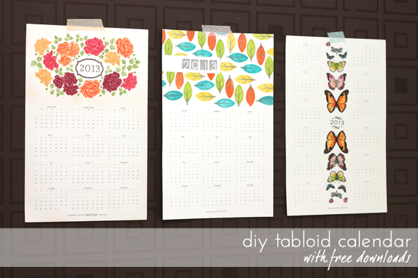 Diy Calendar With Pictures : Diy calendar series tabloid calendars damask love