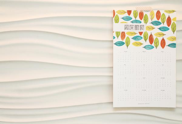 Modern Leaf DIY Calendar