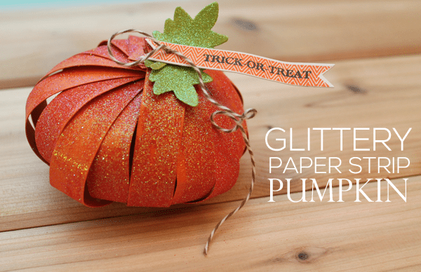 Glitter Strip Pumpkin Tutorial