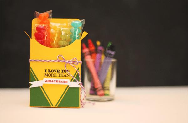 Crayon Box Jelly Bean Favor Box