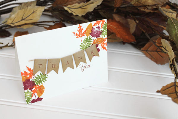 Clear and Simple Stamps Fall Leaves Card