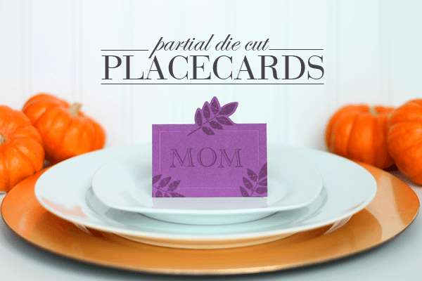 Partial Die Cut Placecards