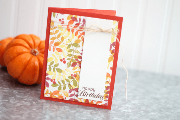 Paper Smooches Reflections Autumn Card
