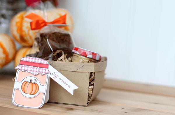 Hey Pumpkin Gift Basket with Card