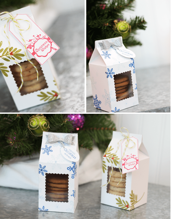 Mini Milk Carton Treat Boxes with Free Downloadable Template | Damask Love Blog