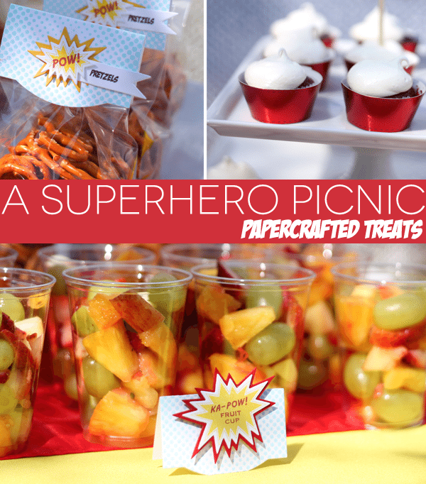 Papercrafted Superhero Treats