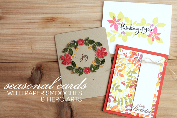 Paper Smooches Hero Arts Seasonal Cards