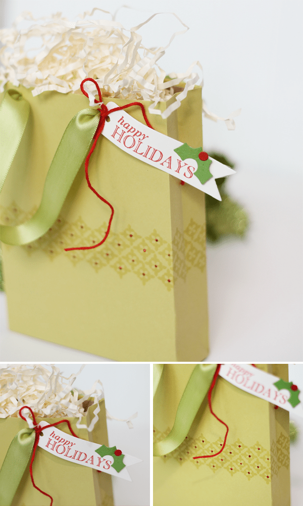 Gift Wrap into Gift Bags Photo Story