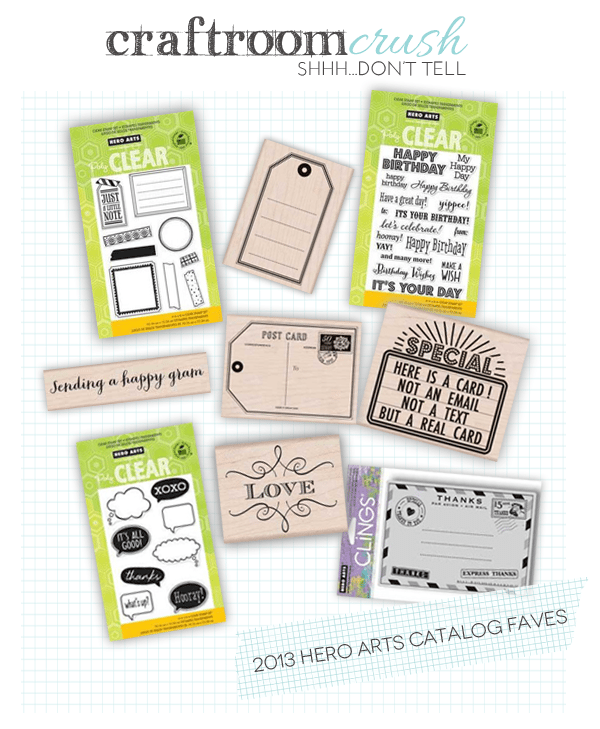 Craftroom Crush: My Favorite Hero Arts Products