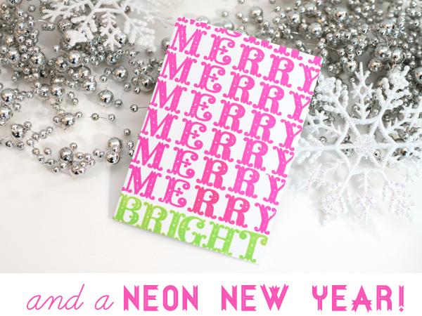 Neon Christmas Card2