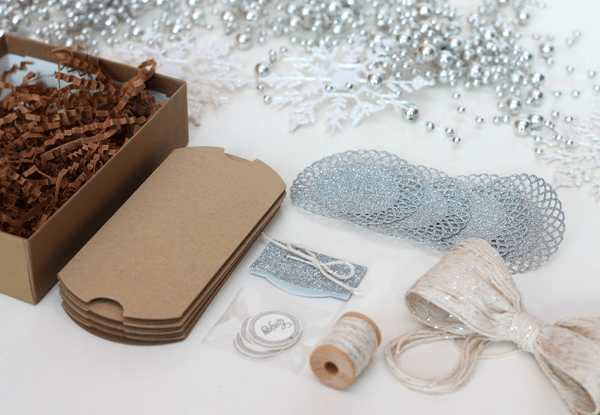 Glitter Twine Bow Gift Packaging Box 1