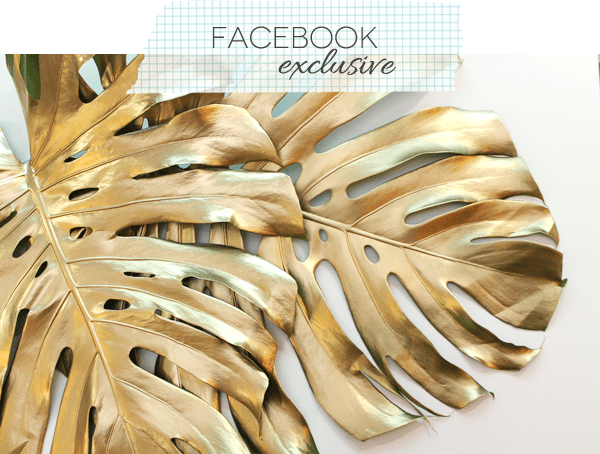 Gilded Monstera Leaves