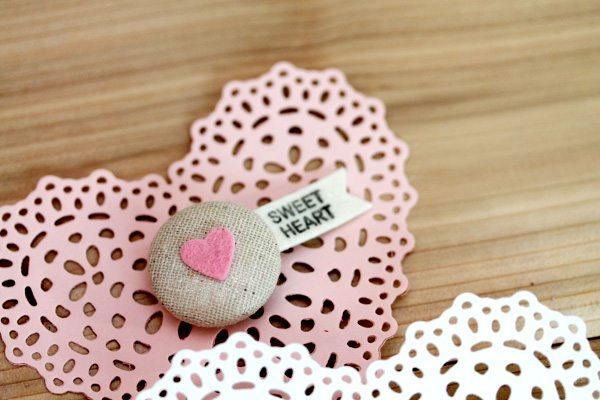Sweet Pink Button Pin
