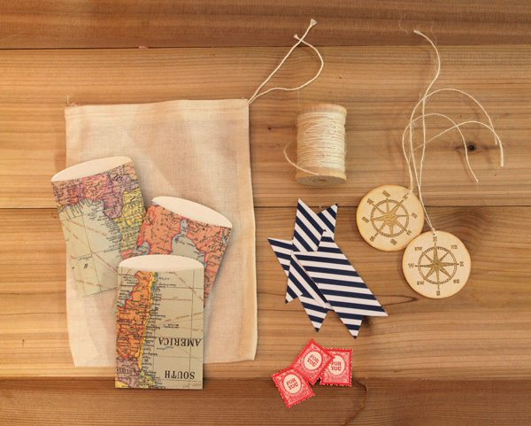 Map Inspired Stationery Bag Kit
