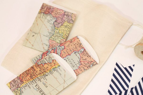 Map Inspired Stationery Bags