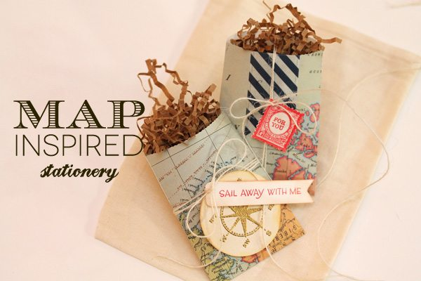 Map Inspired Stationery Bags Header