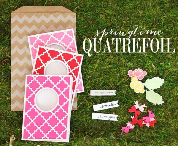 Springtime Quatrefoil Stationery Header