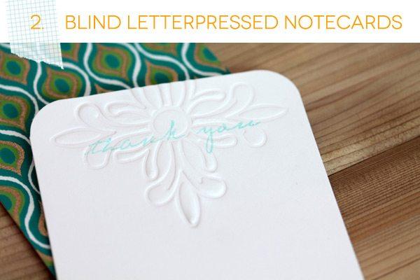 Blind Letterpress Notecard