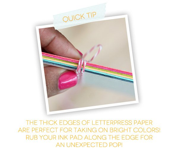 Bold & Bright Calendar Quick Tip Inked Edges