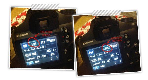 Apeture&ShutterSpeedCameraSettings