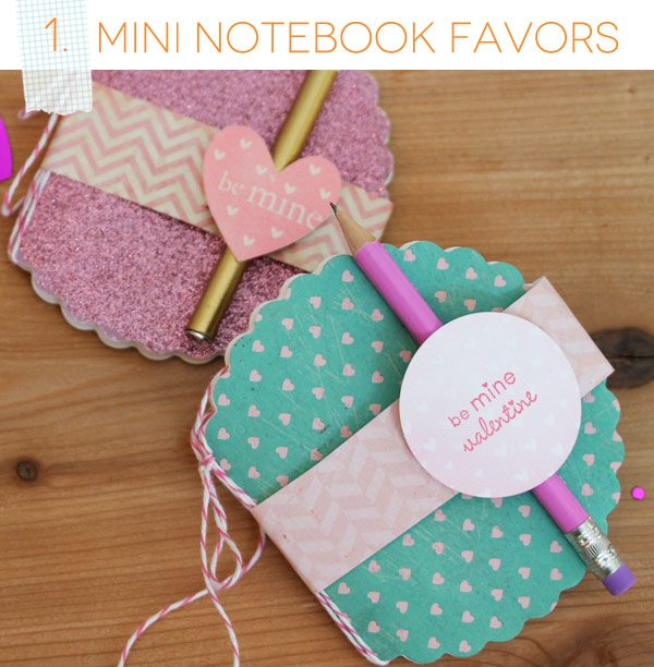 Mini Notebook Favors with Fiskars Fuse | Damask Love