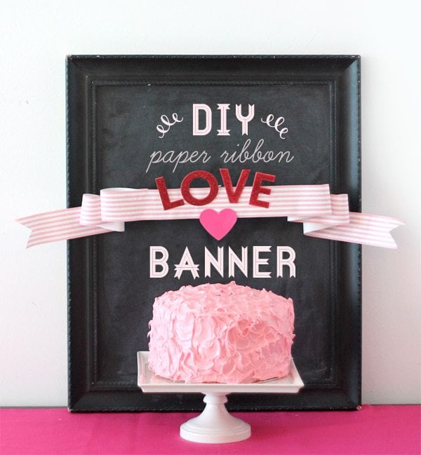 DIY Paper Ribbon Banner Header