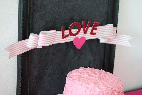 DIY Paper Ribbon Banner