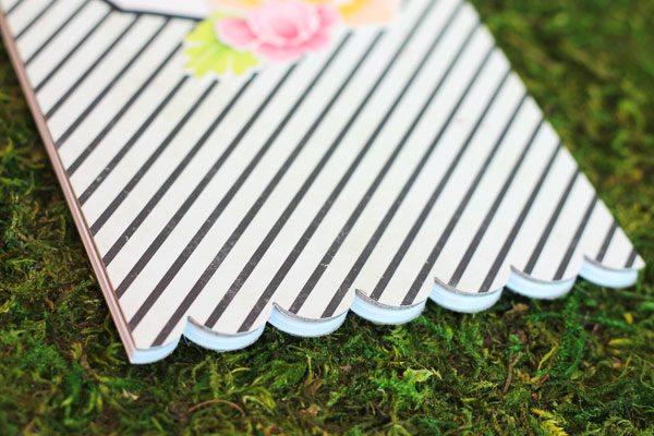 Scalloped Edge Notepad with Fiskars Fuse 1 | Damask Love Blog