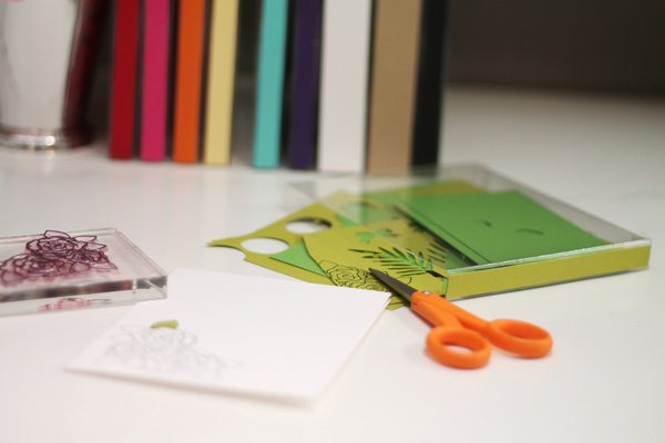 Paper Scrap Library On Desk