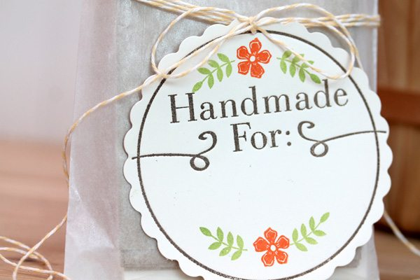 Stamped & Letterpress Tag Close | Damask Love Bog