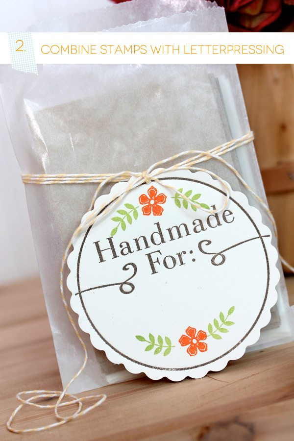 Stamped & Letterpress Tag | Damask Love BLog