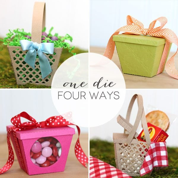 Lifestyle Crafts Basket Die Four Ways | Damask Love