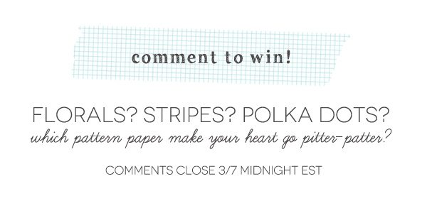 Comment-To-Win-Patterned-Paper
