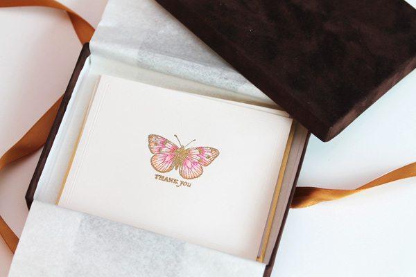 High Society Stationery DIY Butterfly Cards | Damask Love Blog