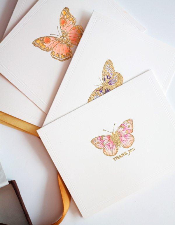 High Society Stationery DIY Butterfly Cards set | Damask Love Blog