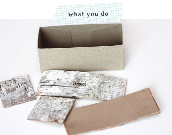 DIY Birch Bark Basket: What you Do | Damask Love Blog