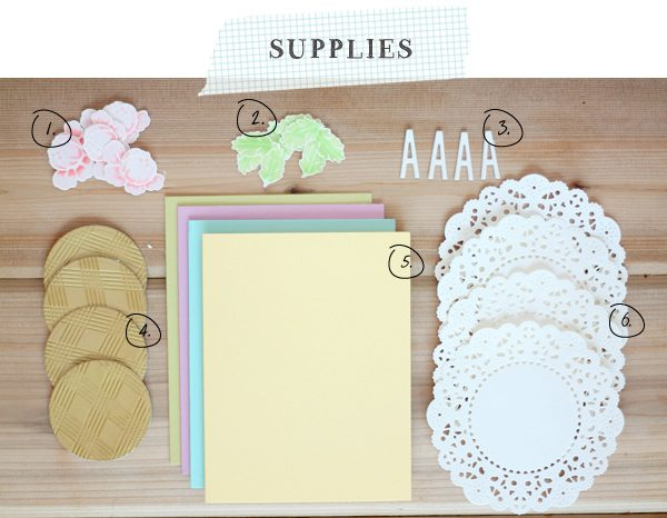 Springtime Monogram Cards Supplies
