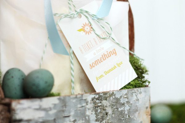 DIY Birch Bark Basket: Treat Filler Tags Close2 | Damask Love Blog