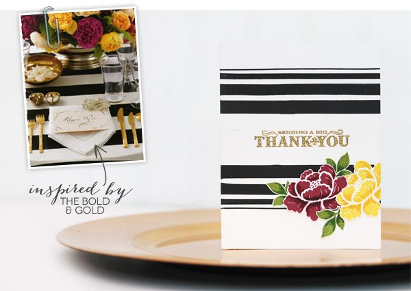 Design Inspired: Floral & Stripes Gold & Bold | Damask Love Blog