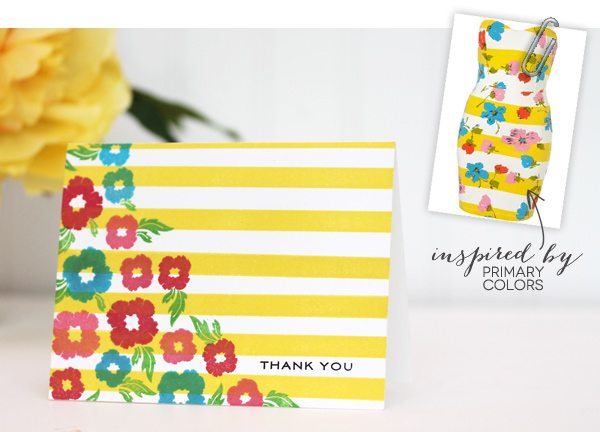 Design Inspired: Floral & Stripes Primary Stripes | Damask Love Blog