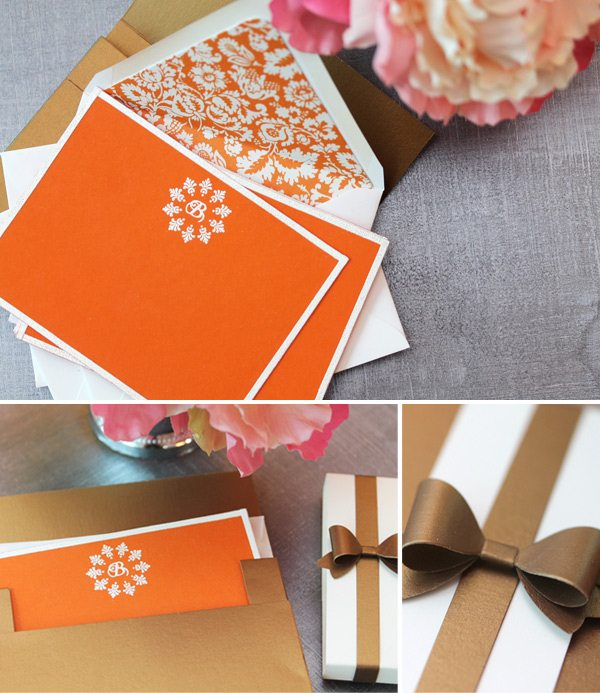 High Society Stationery Supplies: Embossed Border Notecards Instructions | Damask Love Blog