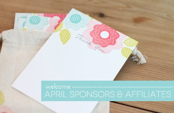 Welcome April Sponsors | Damask Love Blog