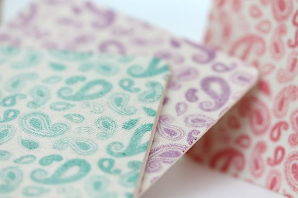 Fabric Front Cards Close | Damask Love Blog