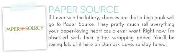 Paper Source Affiliate | Damask Love Blog