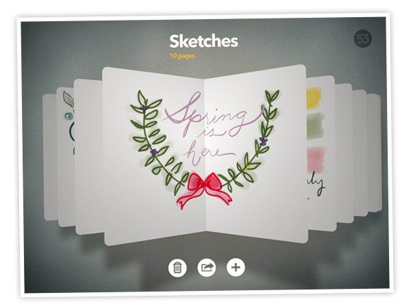 Sketchbook Open Book Paper 53 | Damask Love Blog