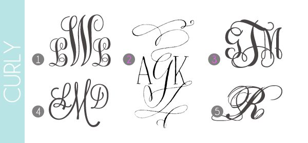 monograms made easy curly fonts damask love blog