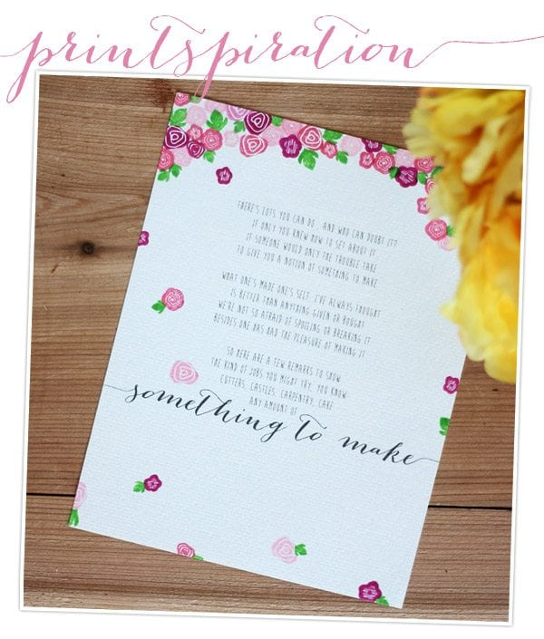 Printspiration: Something to Make | Damask Love Blog