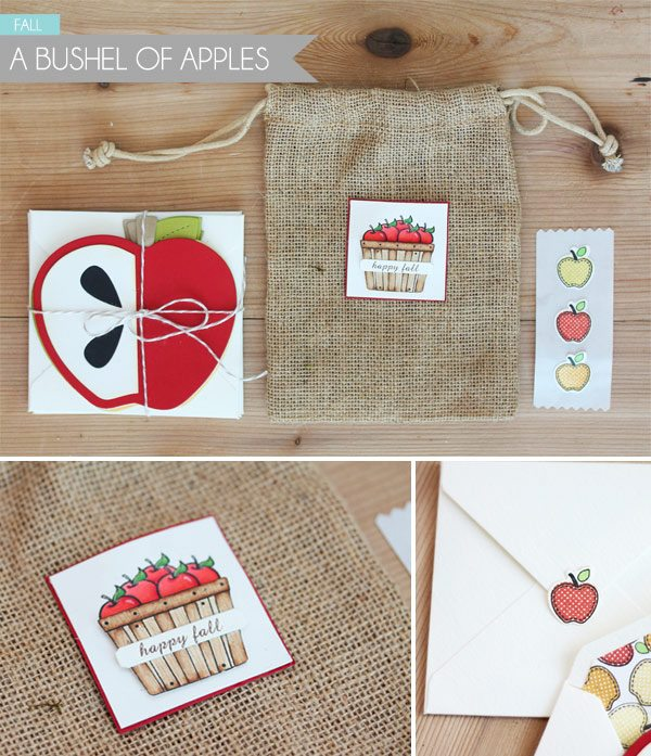 Clear & Simple Stamps Style Watch: Fall Burlap Bag | Damask Love Blog